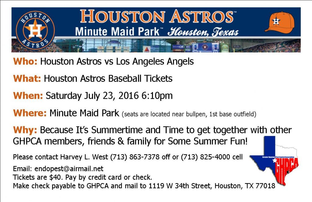 GHPCA Astros Game Group outing-July 23, 2016