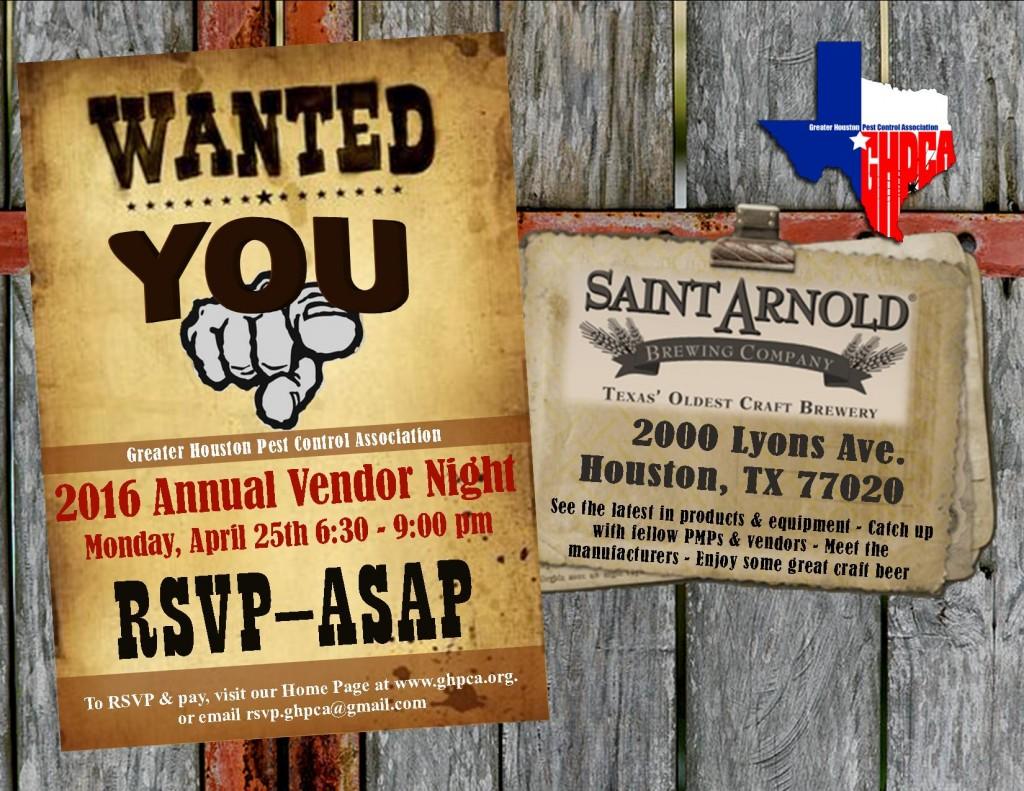 GHPCA 2016 Annual Vendor Night-April 25th-St. Arnold Brewing
