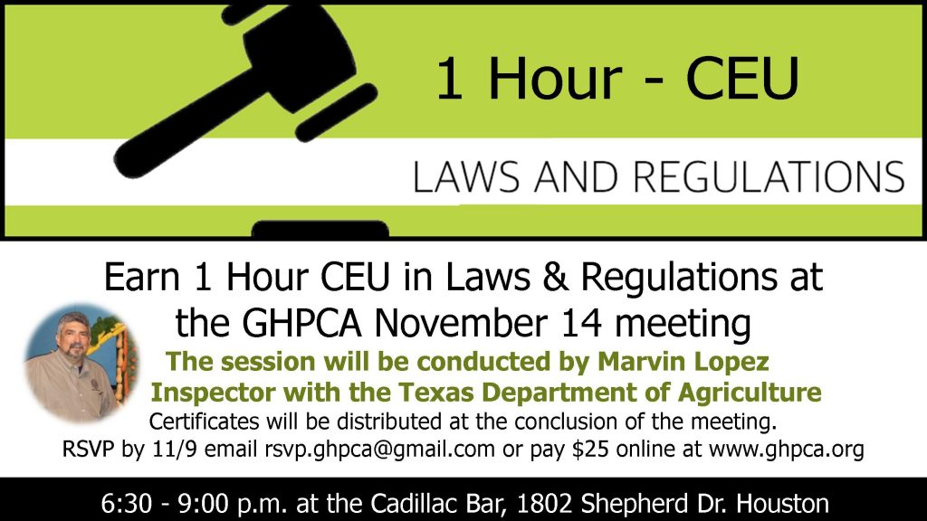 1 hour CEU - Laws & Regulations
