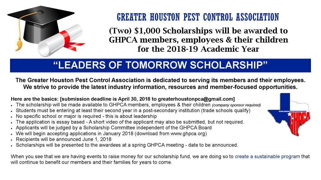 GHPCA Scholarship Hand