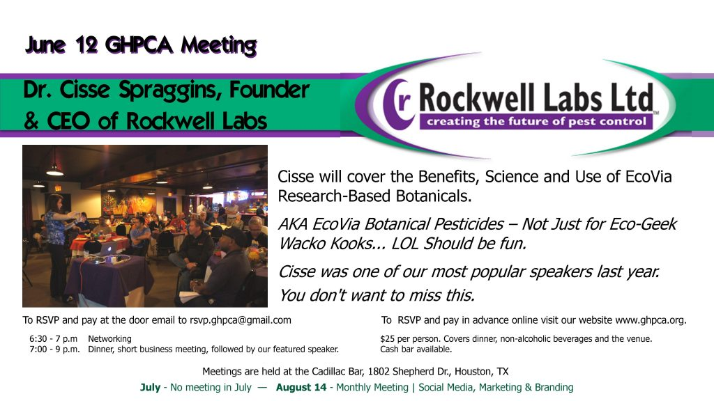 Dr. Cisse Spraggins - Rockwell Labs June 12, 2018