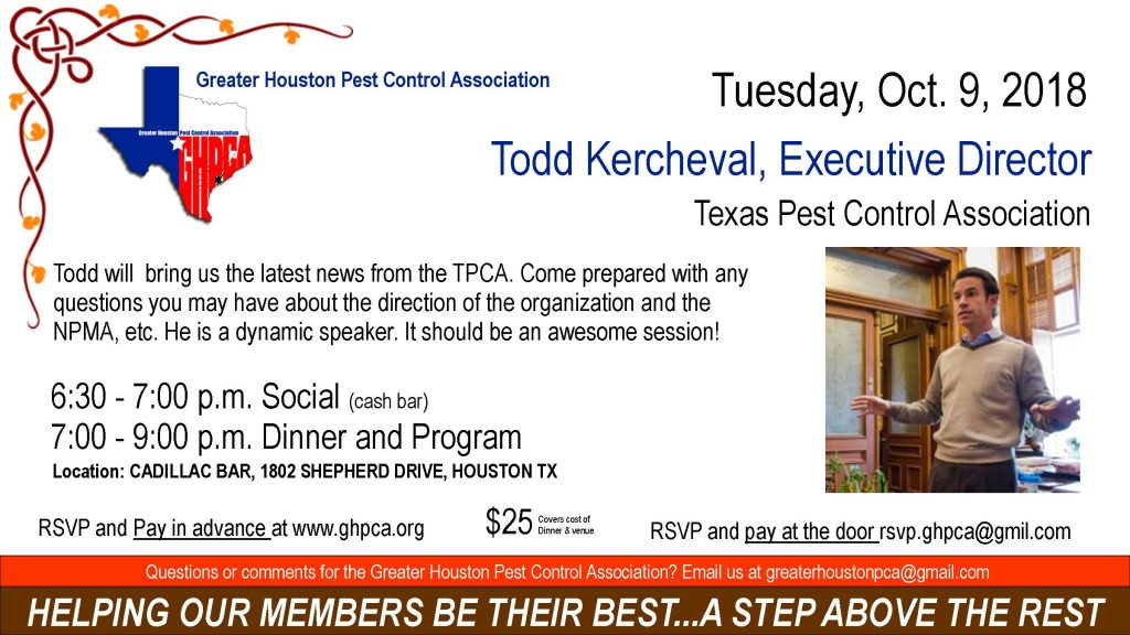 Todd Kercheval - TPCA | GHPCA October 9, 2018