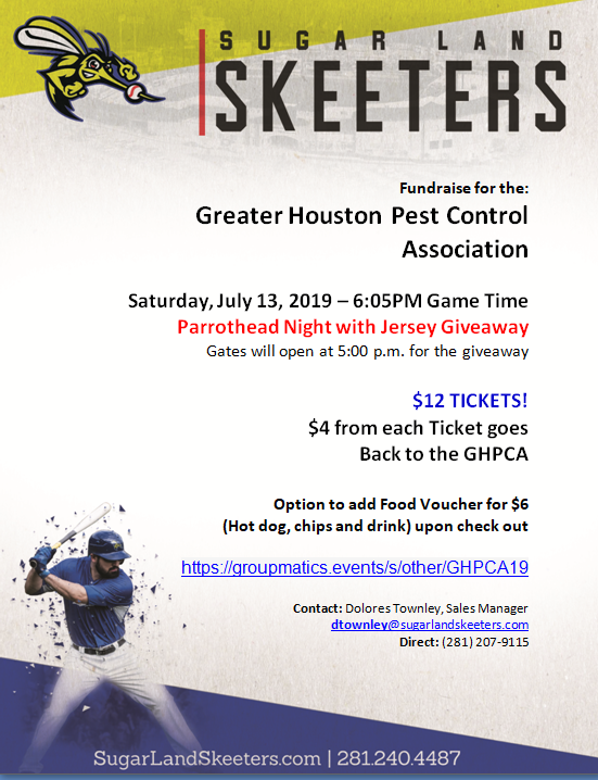 Skeeters Game July 13 GHPCA scholarship fundraiser